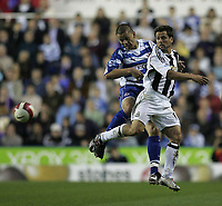 Photo: Lee Earle.<br /> Reading v Newcastle United. The Barclays Premiership. 30/04/2007.Reading's Ivar Ingimarrsson (L) clashes with Michael Owen.