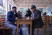 Men playing chess, Almaty, Kazakhstan