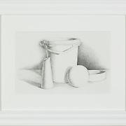 "Title: Basic Still Life<br /> Artist: Joseph Clark<br /> Date: 2010<br /> Medium: Graphite<br /> Dimensions: 19 x 15""<br /> Instructor:<br /> Status: On Display<br /> Location: Cypress Creek Campus Commons, Building 1000"