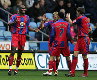 Photo: Lee Earle.<br /> Coventry City v Crystal Palace. Coca Cola Championship. 13/01/2007. Leon Cort (L) is congratulated after scoring the third goal for Palace.
