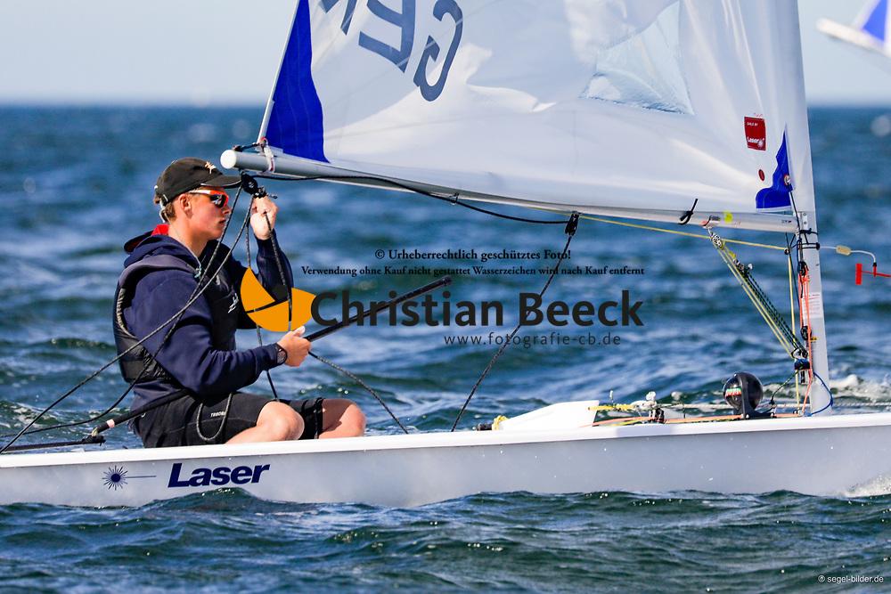 , Travemünder Woche 19. - 28.07.2019, Laser Radial - GER 208346 - Felix SCHIEßER - Yachtclub Wismar 61 e.V