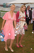 Martha Ward and Samantha Would. Cartier International Day at Guards Polo Club, Windsor Great Park. July 24, 2005. ONE TIME USE ONLY - DO NOT ARCHIVE  © Copyright Photograph by Dafydd Jones 66 Stockwell Park Rd. London SW9 0DA Tel 020 7733 0108 www.dafjones.com