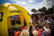 The masses arrive in force for the Leatt autograph session at the UCI BMX Supercross World Cup in Papendal, Netherlands.