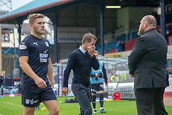 Dundee's manager Neil McCann at ehe end. Dundee 0 v 3 Ayr United, Scottish League Cup Second Round, played 18/8/2018 at the Kilmac Stadium at Dens Park, Scotland.