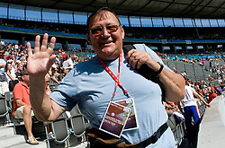 Coach of Slovenia Marjan Stimec  during the men's Shot Put qualifying event of the 2009 IAAF Athletics World Championships on August 15, 2009 in Berlin, Germany. (Photo by Vid Ponikvar / Sportida)