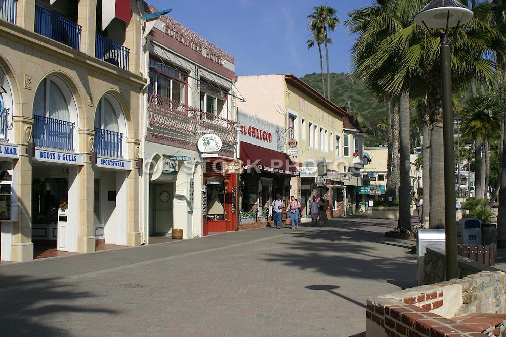 Crescent Street Pedestrian Mall at Avalon Bay Catalina Islanda