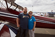 Alliance Executive Director and pilot after flight in N3n at Warbirds Over the West.