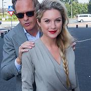 NLD/Hilversum/20130829 - Najaarspresentatie NPO 2013, Jort Kelder en partner Lauren Verster