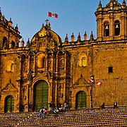 La Catedral in the Plaza de Armas, the heart of Cuzco, Peru.
