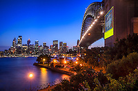 Harbour Bridge & Sydney Skyline from Bradfield Park