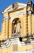 Decoration above the east door of the church of San Pedro. Antigua Guatemala, Republic of Guatemala. 03Mar14