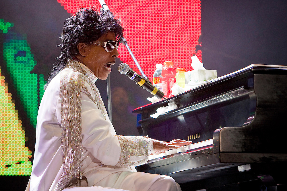 Little Richard performing on stage at the Domino Effect Benefit Concert in the New Orleans Arena in New Orleans, Louisiana, USA, 30 May 2009.