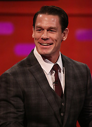 John Cena during the filming for the Graham Norton Show at BBC Studioworks 6 Television Centre, Wood Lane, London, to be aired on BBC One on Friday evening. PRESS ASSOCIATION. Picture date: Thursday December 6, 2018. Photo credit should read: PA Images on behalf of So TV