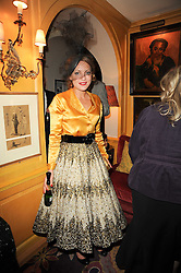 LADY SITWELL at a party to celebrate the publication of Blow by Blow - The Story of Isabella Blow by Detmar Blow and Tom Sykes held at Annabel's, Berkeley Square, London on 21st September 2010.