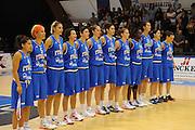 DESCRIZIONE : Pomezia Nazionale Italia Donne Torneo Città di Pomezia Italia Olanda<br /> GIOCATORE : team italia nazionale femminile<br /> CATEGORIA : presentazione<br /> SQUADRA : Italia Nazionale Donne Femminile<br /> EVENTO : Torneo Città di Pomezia<br /> GARA : Italia Olanda<br /> DATA : 26/05/2012 <br /> SPORT : Pallacanestro<br /> AUTORE : Agenzia Ciamillo-Castoria/GiulioCiamillo<br /> Galleria : FIP Nazionali 2012<br /> Fotonotizia : Pomezia Nazionale Italia Donne Torneo Città di Pomezia Italia Olanda
