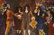 Abbey Painting, Penn Meets Indians, House of Representatives, Harrisburg, Pennsylvania