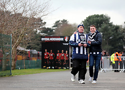 West Bromwich Albion fans arrive for the Premier League match at the Vitality Stadium, Bournemouth.