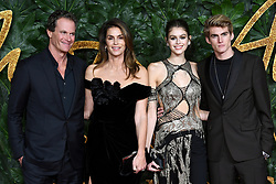 (left to right) Rande Gerber, Cindy Crawford, Kaia Gerber and Presley Gerber attending the Fashion Awards in association with Swarovski held at the Royal Albert Hall, Kensington Gore, London