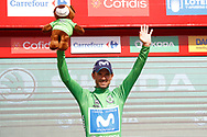Podium, Alejandro Valverde (ESP - Movistar) winner, green jersey, during the UCI World Tour, Tour of Spain (Vuelta) 2018, Stage 8, Linares - Almaden 195,1 km in Spain, on September 1st, 2018 - Photo Luca Bettini / BettiniPhoto / ProSportsImages / DPPI