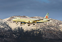 Air Canada Embraer 190 on final approach into Whitehorse, Yukon