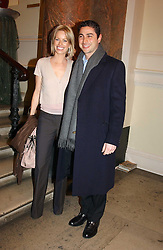 CEM & CAROLINE HABIB at a reception to celebrate the opening of Turks:A Journey of a Thousand Years, 600-1600 - an exhibition of Turkish art held at the Royal Academy of Arts, Piccadilly, London on 18th February 2005.<br /><br />NON EXCLUSIVE - WORLD RIGHTS
