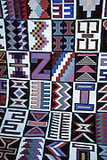A colorful rug is sold in Urubamba (Vilcanota) River Valley, Peru, South America.