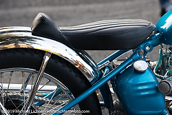 Invited BF11 Jason Friend's 1951 custom Triumph at the Stampede pre-Born Free gathering and races in the City of Industry, CA, USA. Thursday, June 20, 2019. Photography ©2019 Michael Lichter.