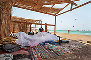 The camping site at the Blue Lagoon resort (Dahab), Sinai, Egypt