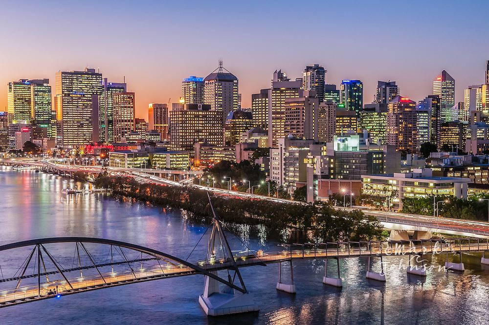 Brisbane, Australia --- Brisbane River & City, Queensland, Australia