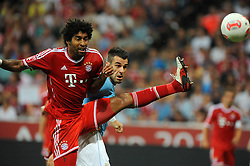 01.08.2013, Allianz Arena, Muenchen, Audi Cup 2013, FC Bayern Muenchen vs Manchester City, im Bild, Riesenchance von Alvaro NEGREDO (Manchester City), DANTE (FC Bayern Muenchen) kann gerade noch klaeren // during the Audi Cup 2013 match between FC Bayern Muenchen and Manchester City at the Allianz Arena, Munich, Germany on 2013/08/01. EXPA Pictures © 2013, PhotoCredit: EXPA/ Eibner/ Wolfgang Stuetzle<br /> <br /> ***** ATTENTION - OUT OF GER *****
