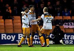 Tyler Walker of Port Vale celebrates with teammates after scoring a goal - Mandatory by-line: Robbie Stephenson/JMP - 20/01/2017 - FOOTBALL - Vale Park - Stoke-on-Trent, England - Port Vale v Bury - Sky Bet League One