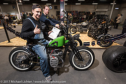Custom and Tuning Show, the custom bike show portion of the big Motor Spring bike show in Moscow, Russia. Sunday April 23, 2017. Photography ©2017 Michael Lichter.