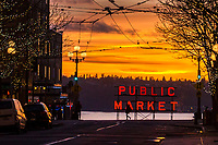 Pine Street & First Avenue, Downtown Seattle