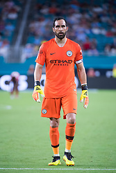 July 28, 2018 - Miami Gardens, FL, U.S. - MIAMI GARDENS, FL - JULY 28: Manchester City's goalkeeper Claudio Bravo during the International Champions Cup game between FC Bayern Munich and Manchester City FC on July 28, 2018 at the Hard Rock Stadium in Miami Gardens, Florida. (Photo by Doug Murray/Icon Sportswire) (Credit Image: © Doug Murray/Icon SMI via ZUMA Press)