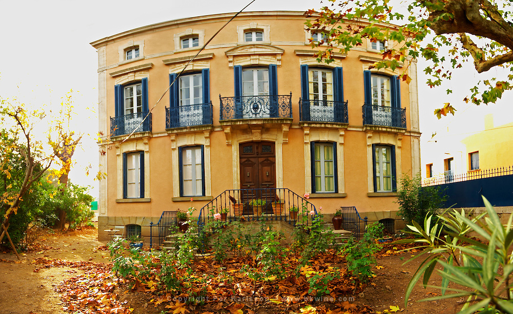 Chateau Mansenoble. In Moux. Les Corbieres. Languedoc. In the garden. The main building. France. Europe.