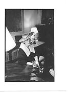 Nigella Lawson. Wedding, London. 1988. Film 88261. © Copyright Photograph by Dafydd Jones 66 Stockwell Park Rd. London SW9 0DA Tel 020 7733 0108 www.dafjones.com