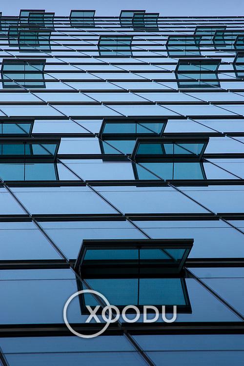 Berlin potsdamerplatz glass window, Berlin, Germany (June 2007)