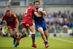 May 27, 2018 - Dublin, Ireland - James Lowe of Leinster tackled by Johnny McNicholl of Scarlets during the Guinness PRO14 Final match between Leinster Rugby and Scarlets at Aviva Stadium in Dublin, Ireland on May 26, 2018  (Credit Image: © Andrew Surma/NurPhoto via ZUMA Press)