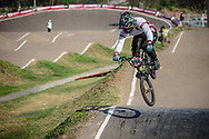 #996 (KRIGERS Kristens) LAT during practice at Round 9 of the 2019 UCI BMX Supercross World Cup in Santiago del Estero, Argentina