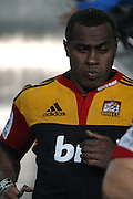 Chiefs Wing Sitiveni Sivivatu, runs out of the tunnel for the start of the second half during the Investec Super 15 Rugby match, Chiefs v Blues, at Waikato Stadium, Hamilton, New Zealand, Saturday 26 March 2011. Photo: Dion Mellow/photosport.co.nz
