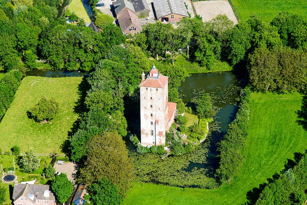 Nederland, Utrecht, Vleuten, 10-06-2015; Hamtoren, restant van kasteel Den Ham. <br /> Ham Tower, remains of castle Den Ham.<br /> <br /> luchtfoto (toeslag op standard tarieven);<br /> aerial photo (additional fee required);