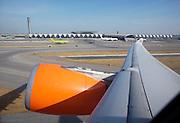 Suvarnabhumi Airport. Qatar Airways Airbus A330 departing to Doha.