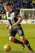 Goalscorer Danny Mullen of St Mirren during the Ladbrokes Scottish Premiership match between St Mirren and Dundee at the Paisley 2021 Stadium, St Mirren, Scotland on 30 March 2019.