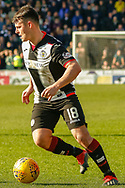 Goalscorer Danny Mullen of St Mirren during the Ladbrokes Scottish Premiership match between St Mirren and Dundee at the Paisley 2021 Stadium, St Mirren, Scotland on 30 March 2019.