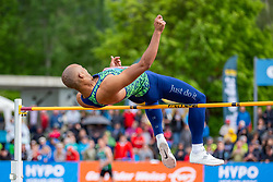 25.05.2018, Moeslestadion, Götzis, AUT, 45. Hypo Meeting Goetzis, Zehnkampf Herren, im Bild Damian Warner (CAN) beim Hochsprung // Damian Warner of Canada during the high jump of the 45th Hypo Athletics Meeting at the Moeslestadion in Götzis, Austria on 2018/05/25. EXPA Pictures © 2019, PhotoCredit: EXPA/ Peter Rinderer