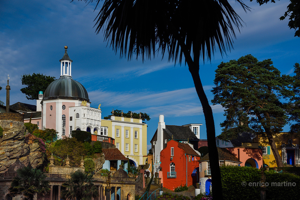 Portmeirion village is a wonderfully eccentric slice of Italianesque architecture and Mediterranean serenity, overlooking the estuary of the River Dwyryd. Portmeirion was the brainchild of a single architect, Sir Clough Williams-Ellis, who acquired this remote promontory in 1925 and didn't complete his dream project until 1975, when he was in his nineties.