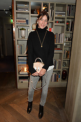 LONDON, ENGLAND 2 DECEMBER 2016: <br /> Jewellery designer Tessa Packard at a breakfast attended by a host of influencers, press and VIPs to celebrate the official launch of EVARAE the new British luxury resort wear brand, held at The Hari Hotel, 20 Chesham Place, London.  England. 2 December 2016.