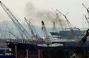Ship breaking yards of Aliaga near Izmir Turkey <br /> photography by John Wreford