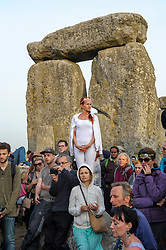 June 21, 2017 - Amesbury, Wiltshire, UK - Stonehenge, Amesbury, Wiltshire, UK.  Revellers at the Summer Solstice celebrations at Stonehenge on the longest day of the year. (Credit Image: © Simon Chapman/London News Pictures via ZUMA Wire)