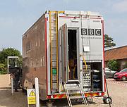 BBC Radio Outside Broadcasts mobile studio vehicle, Snape Maltings, Suffolk, England, UK